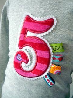 Zahl + Bänder für Tanja :)