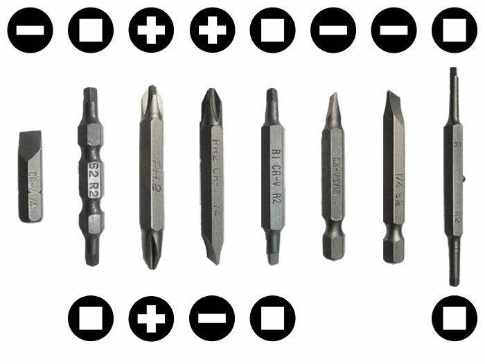 Various Screwdriver Bits