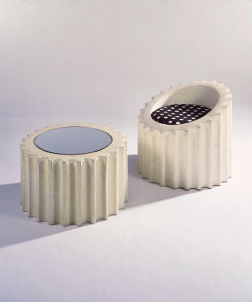 """Attica"" Chair and Table, Gufram, Designed by Studio 65, 1972. www.gufram.it"