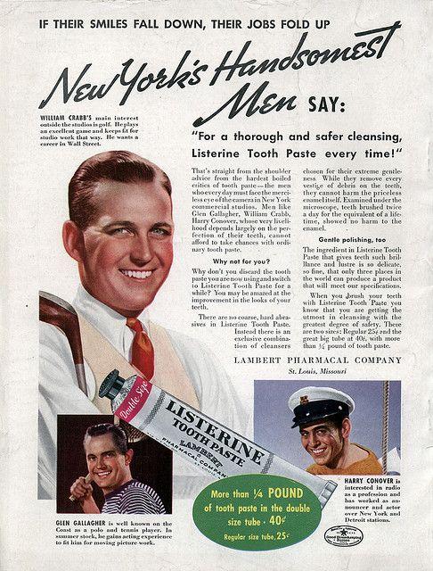 Listerine Toothpaste via Flickr #vintage #ads #1930s