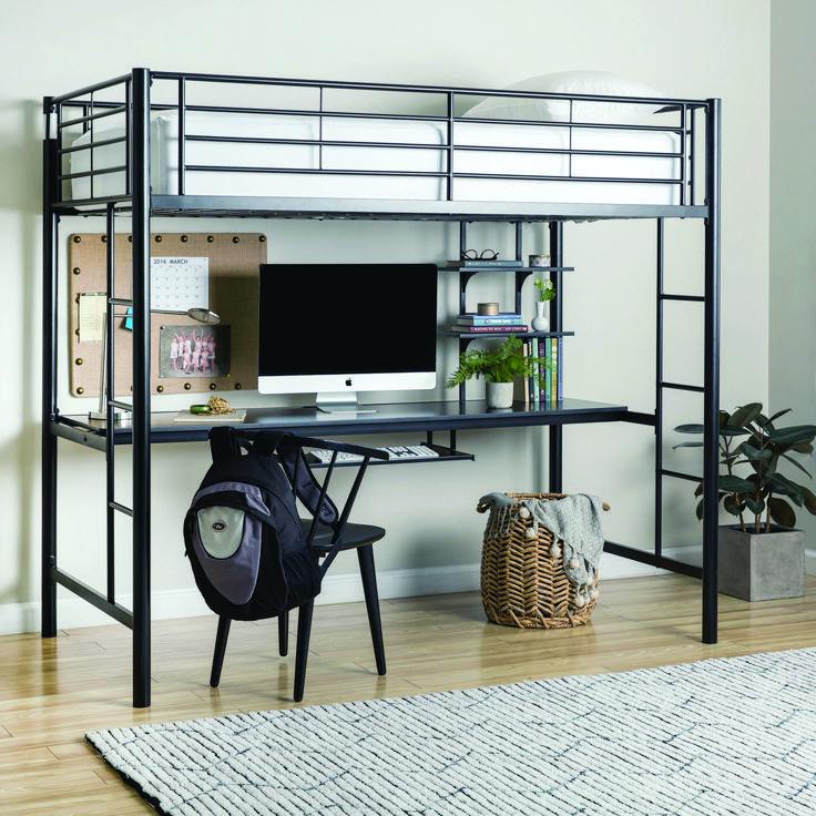 IKEA Bunk Beds Loft spaces, Bunk bed with desk, Home