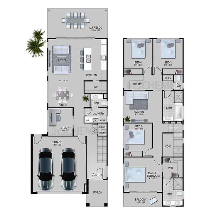nice duplex plans #2: good for duplex design, not sure about downstairs study but like upstairs  nook, maybe