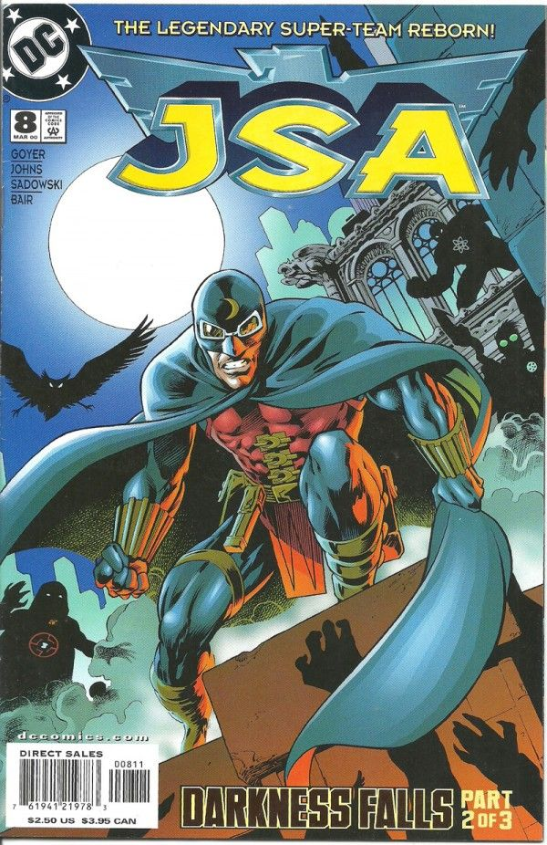JSA: DARKNESS FALLS-2(3) (DC Comics) - oComics  Darkness Falls shows the JSA called upon once again to save the planet from malevolent forces that threaten the very fiber of the universe! But this time it's personal, as the foe they are fighting is a darkness-consumed Obsidian, son of Alan Scott, Sentinel.  Read Now: http://ocomics.com/product-category/comics/dc-comics/  #dc #comics #online #ocomics #JSA