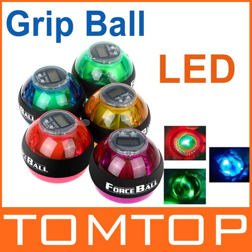 Gyroscope LED Wrist Power Force Ball Grip Ball Arm Muscle Exercise Strengthener