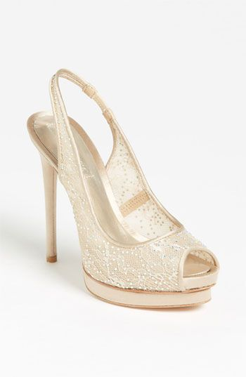 "BCBGMAXAZRIA Crystal Lace  Pump available at #Nordstrom I NEED THESE!!! ""prosecco lace"" YESSS!!!"