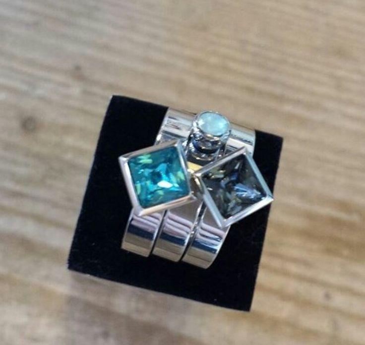 MelanO Twisted ringen met vierkante zettingen 😍 #melano #twisted #sieraden #jewelry #bonibunita #einighausen