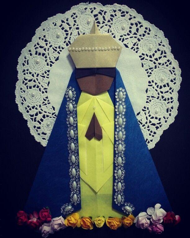 Nossa Senhora Aparecida, padroeira do Brasil. Arte:Isadora Rocha