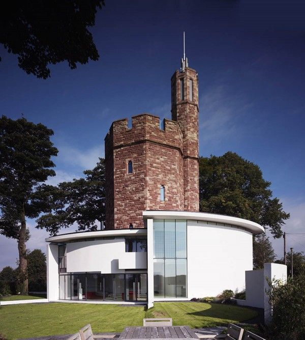 Modern/old House   Lymm Water Tower   By Ellis William Architects