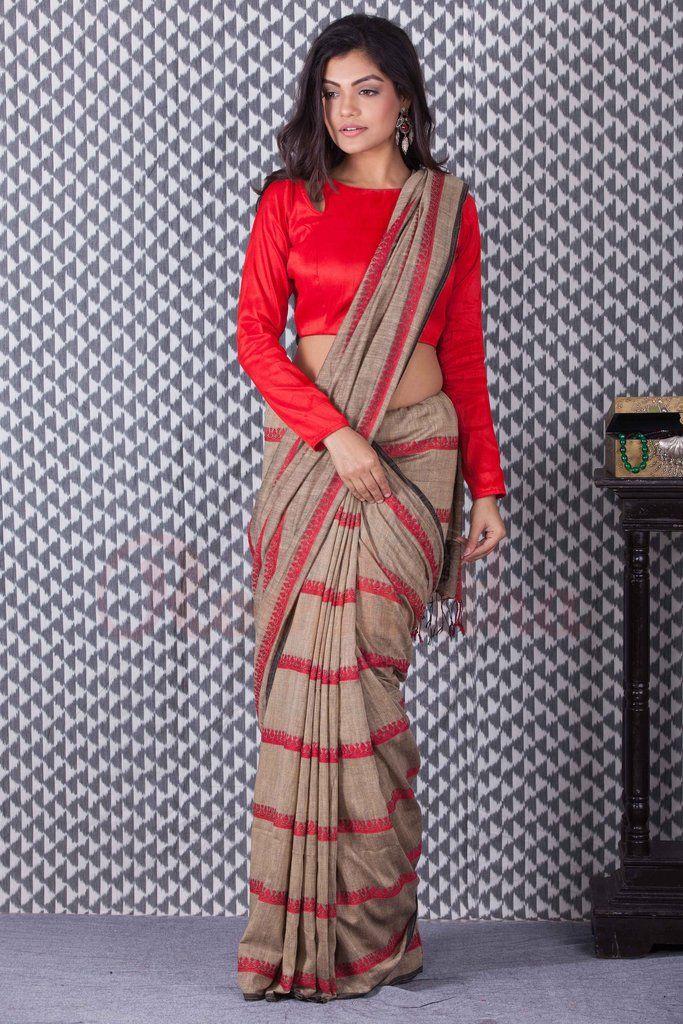 Khadi Cotton Handloom Saree-KCH061050302