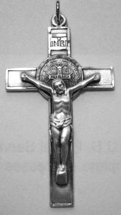 St. Benedict Crucifix - Sterling Silver