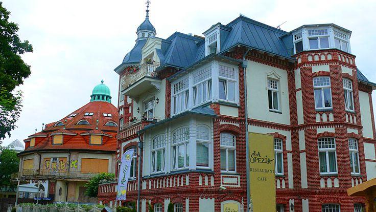 'La Spezia' Restaurant Cafe in Miedzyzdroje, Poland