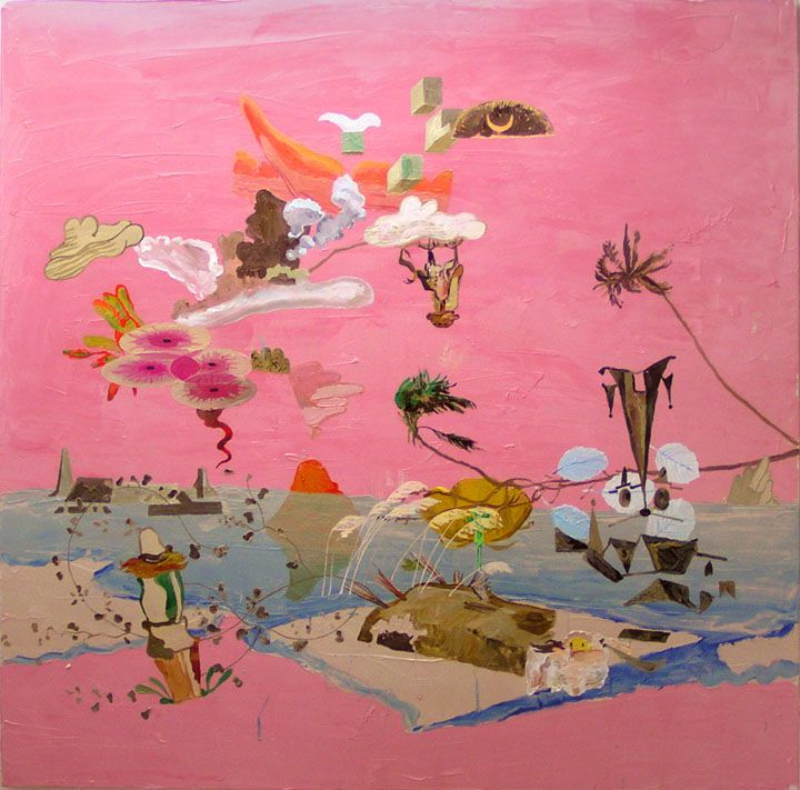 Landing  Oil on Canvas  1400 x 1400 :2005
