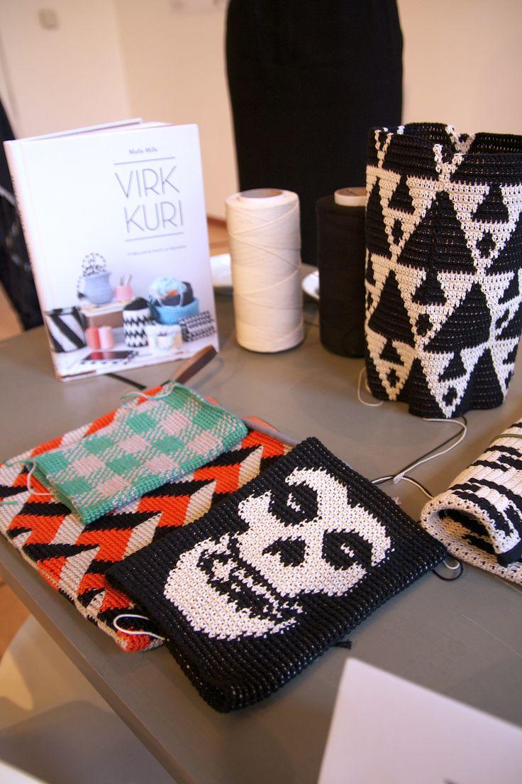 "Atelier crochet autour de ""Virkkuri"" de Molla Mills."