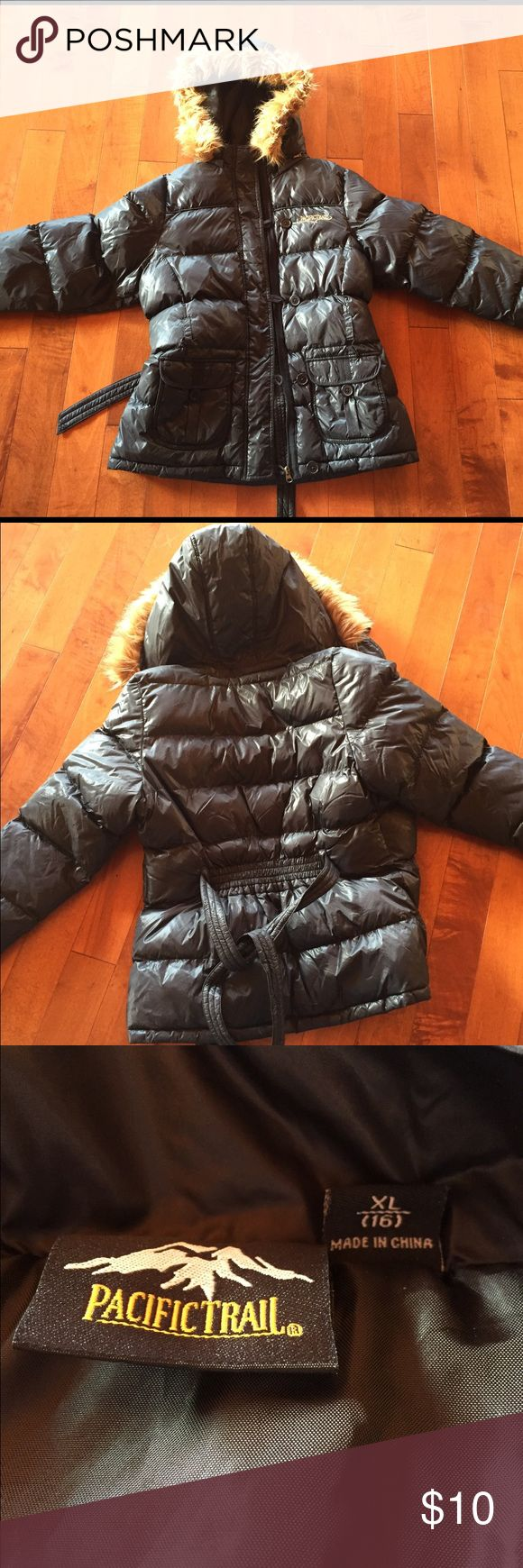 Kids puffer jacket Very warm puffer jacket. In excellent condition including the fur hood liner. Pacific Trail Jackets & Coats Puffers