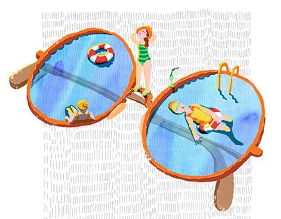 """Check out new work on my @Behance portfolio: """"Sunglasses pool"""" http://be.net/gallery/37746673/Sunglasses-pool"""