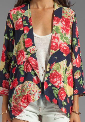 soft floral blazer