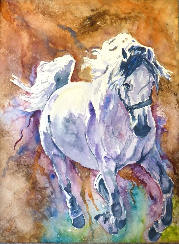 The Paisley Horse Watercolor Print by Maure Bausch by twopoots