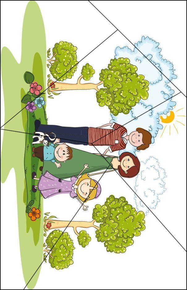 Ik en mijn familie - Activiteiten - UK&Puk. Puzzel familie