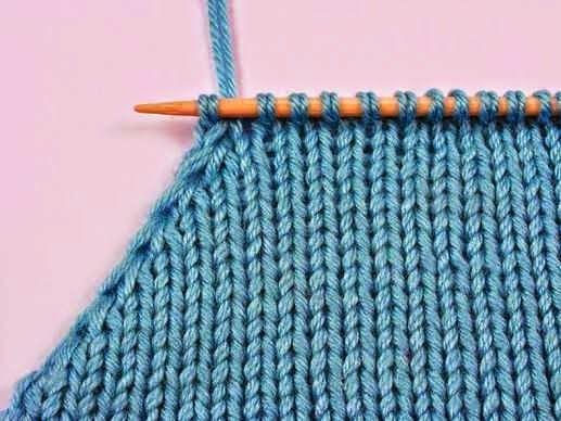 Уроки вязания: Убавление по краю полотна - аккуратный срез