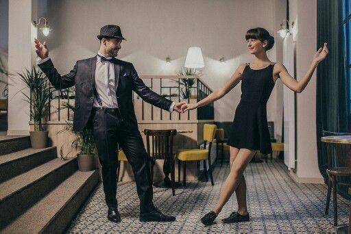 Photoshoot in Dobre&Dobre, suits by Lombardi Fashion House. Swing, vintage, fashion, 1940, photo by Martin Haburaj.