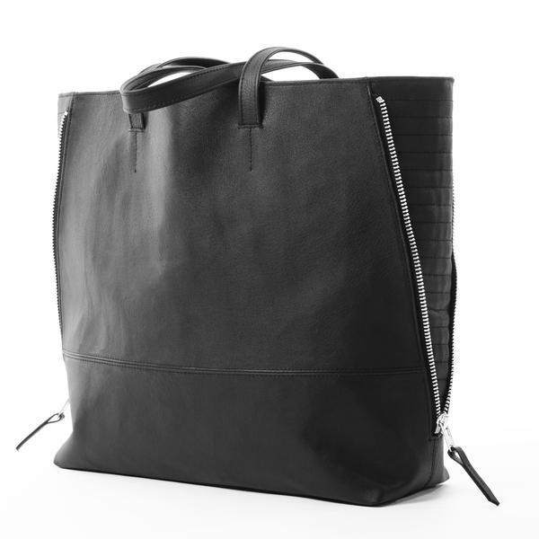 ZIPPER SHOPPER BAG