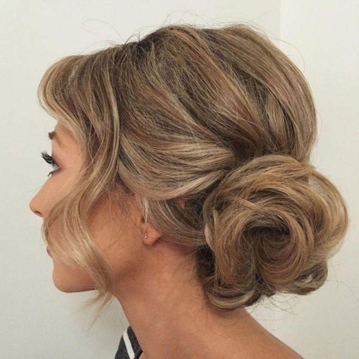 Curly Side Bun Updo #sideUpdos