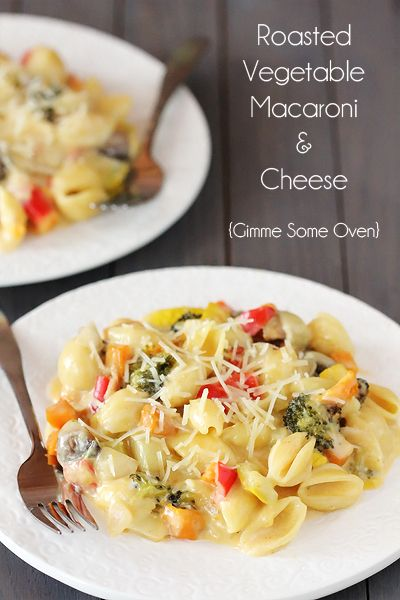 Roasted Vegetable Macaroni and Cheese   Gimme Some Oven