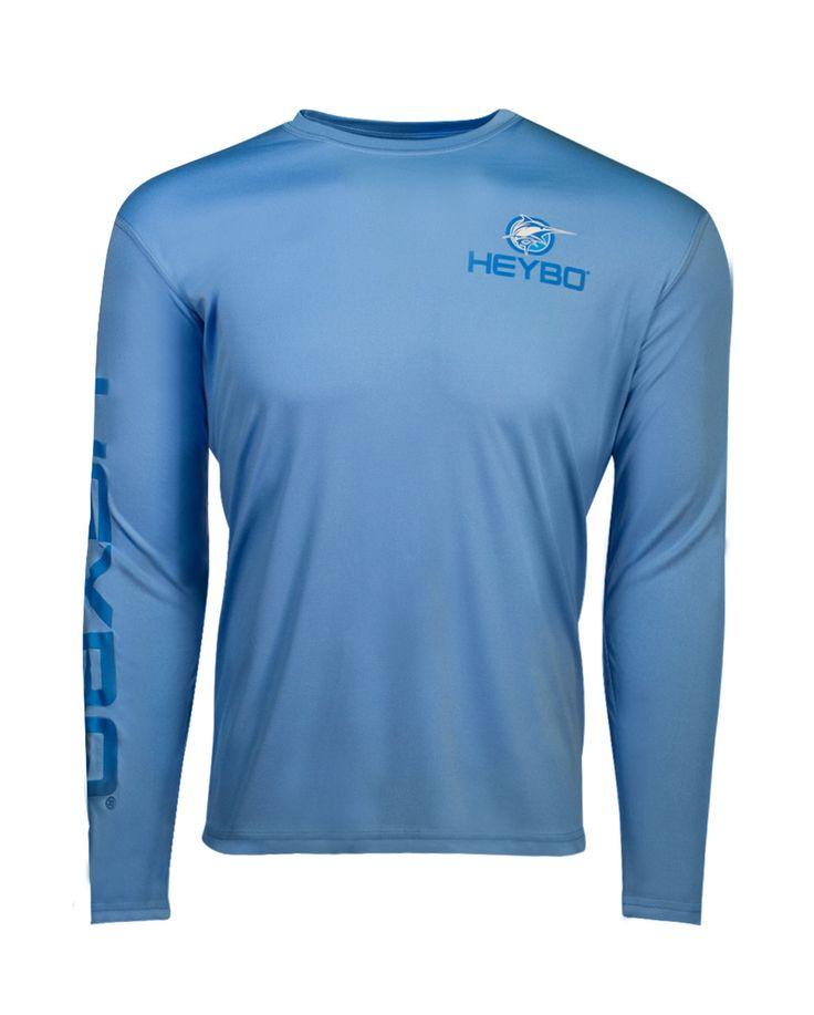 Heybo Men's Pro Marlin Light Blue Performance Shirt [HEY5024]