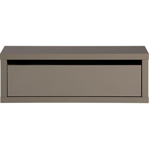Slice Grey Wall Mounted Storage Shelf Wall Mounted