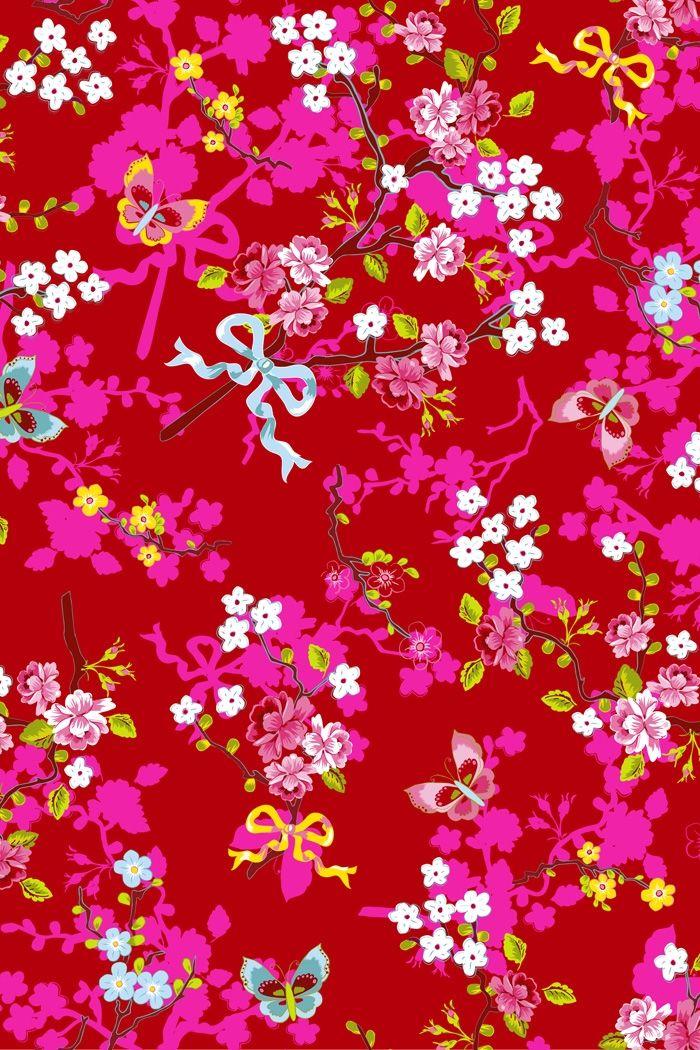 PiP Chinese Rose Rood behang   Traditional   Behang   PiP Studio