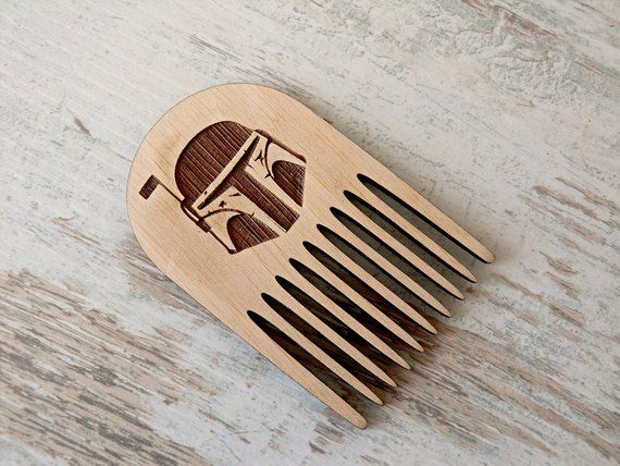 Star Wars Beard Comb Boba Fett Personalized Wooden Comb Valentine gift Groomsmen Gift for dad Gifts for boyfriend