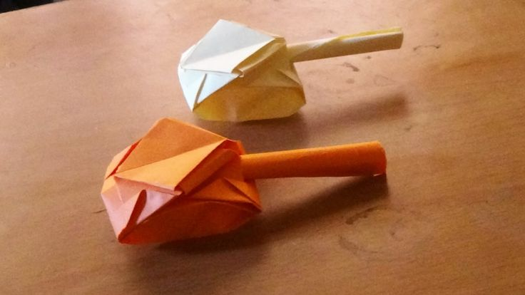 Origami Art  - How to make an origami tank