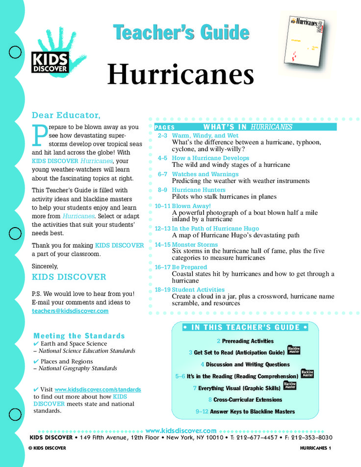 hurricanes kids discover earth science pinterest kid lesson plans and free lesson plans. Black Bedroom Furniture Sets. Home Design Ideas