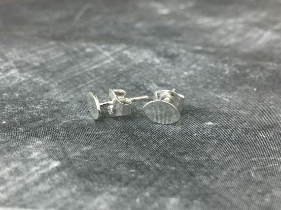 Handmade Oval Sterling Silver Earrings  Eye by HindorfJewellery
