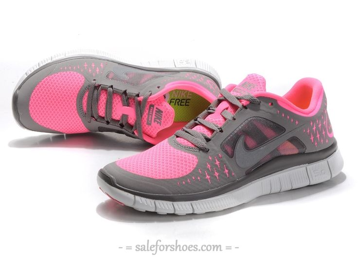 Under $100 2014 New Arrival Nike Free 5.0 V3 Womens Running Shoes Grey Pink  White