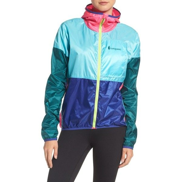 Women's Cotopaxi Teca Packable Water Resistant Windbreaker Jacket ($80) ❤ liked on Polyvore featuring activewear, activewear jackets, festival and tail activewear