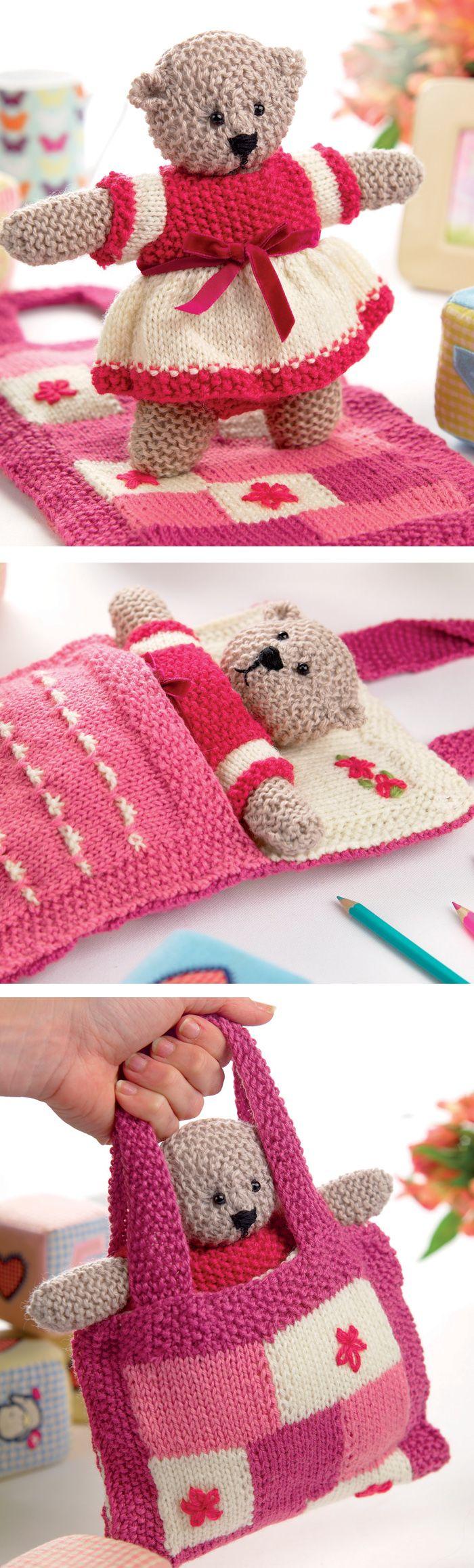 Free Until Nov 26, 2017 - Knitting Pattern for Shirley Bear