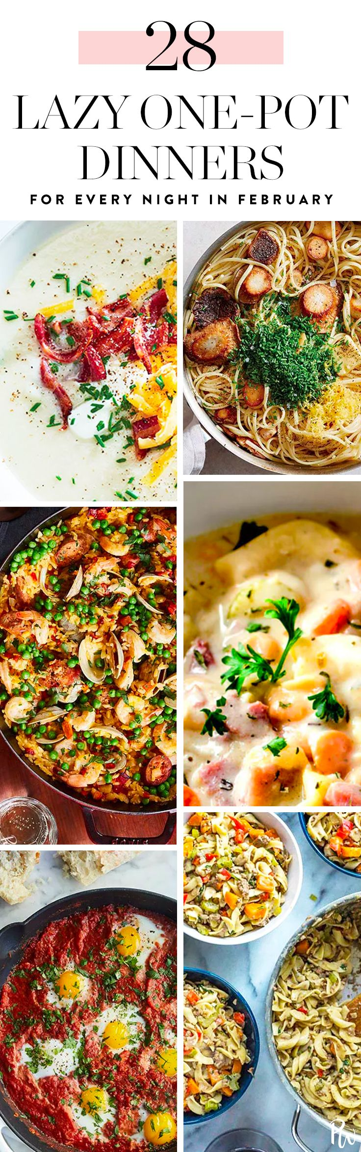 28 tasty, easy one-pot dinners to make every night in February (including Valentine's Day!)