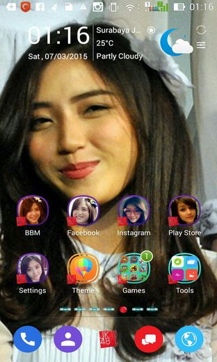 MasCrayon World's: Shinta Naomi @Naomi_JKT48 Theme for Android