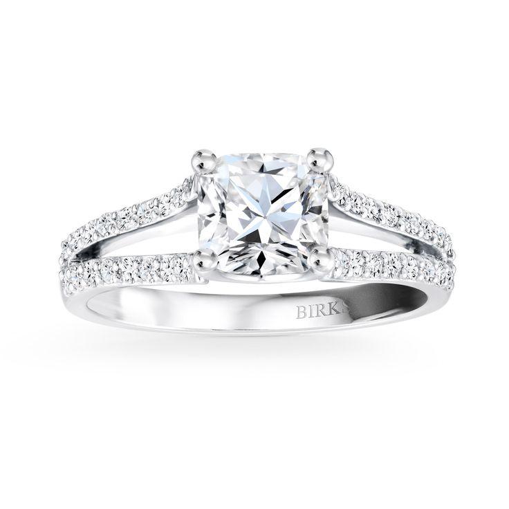 Engagement Rings Split Shank Pave