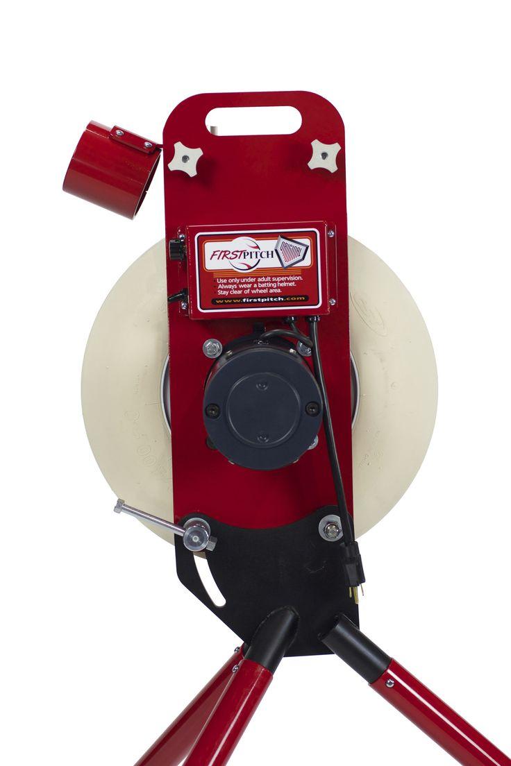 FirstPitch Original Baseball & Softball Pitching Machine 80 MPH Both Legs