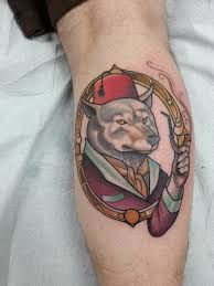 Image result for tattoo of wolf with carrot