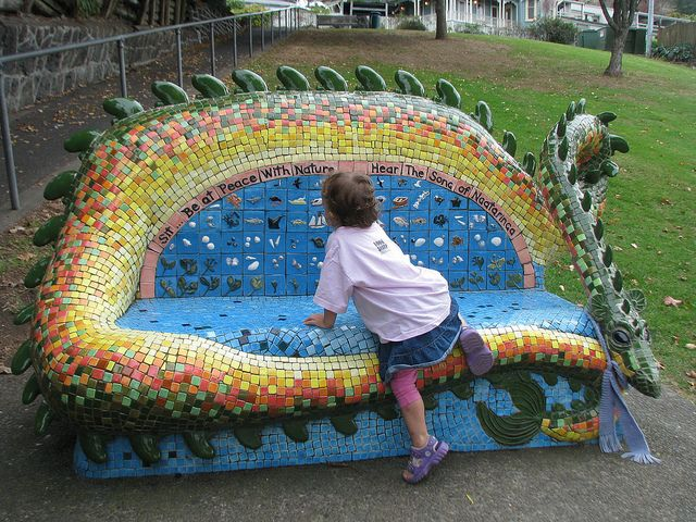 1000 Images About Mosaic And Tiled Garden Benches On