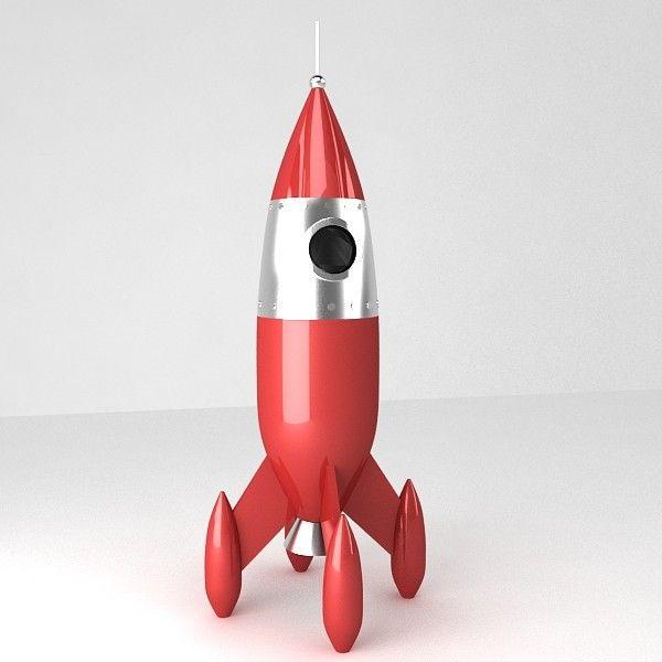 retro rocket 3d model | Rockets | Pinterest | Models ...