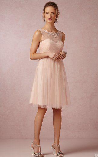 Short Vintage Tulle Bridesmaid Dresses
