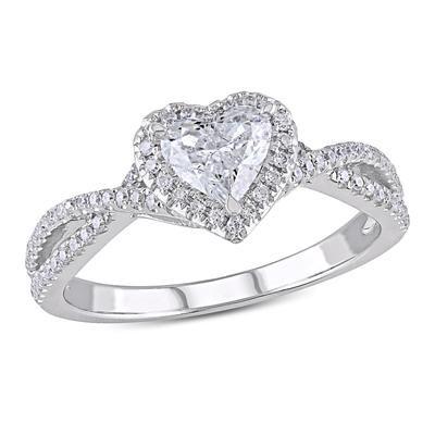 Angara Airline Set Three Stone Princess Black Diamond Ring in 14K White Gold 9xnzInEyoW