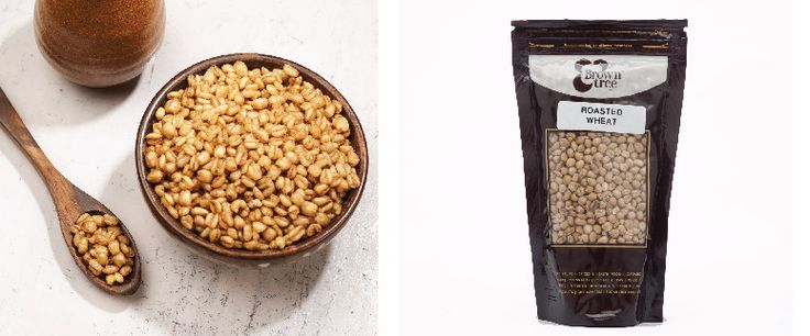 Puffed wheat:  Enjoy the deliciously healthy puffed wheat snack. They are filled with fiber and complex carbohydrates that keep you healthy and full until your next meal!
