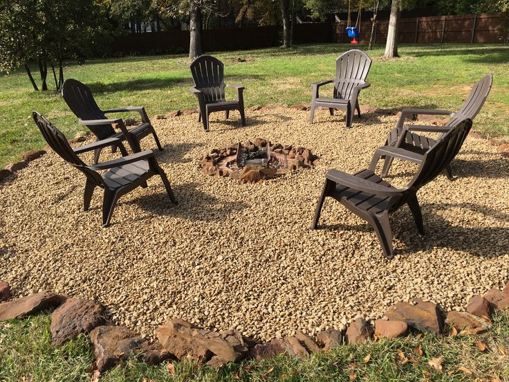Fire pit with rock surround