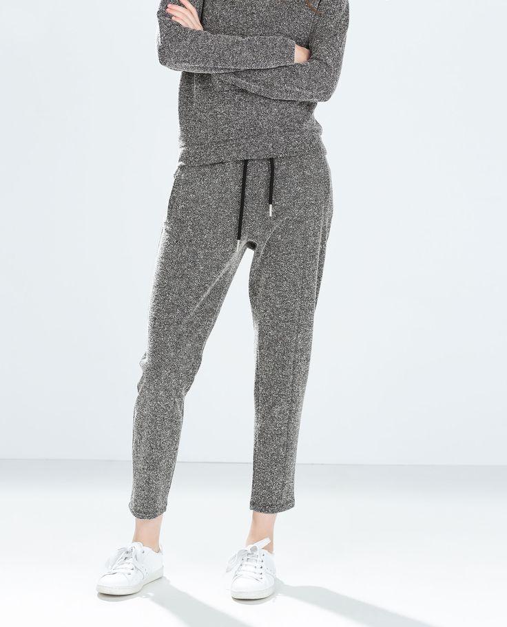 TWEED JOGGING PANTS from Zara