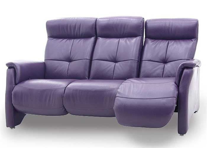 Unwind Domicil Leather Reclining 3 Seat Sofa From Town